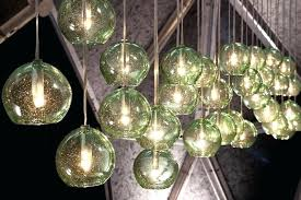 full size of lighting art glass blown recycled globe pendants at dining by design wall sconce