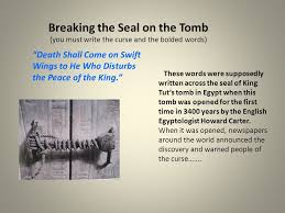 "the curse of king tut s tomb fact or fiction ""death shall come  2 breaking"