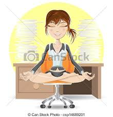 meditation in office. Meditation At The Office - Csp14689201 In
