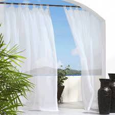 tab top sheer curtains. White Escape Sheer Tab Top Indoor Outdoor Curtain Panel Curtains N