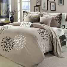 brown bedding sets bedroom sophisticated modern full bedding sets with elegant cream nuance for king size bedding sets plus fl pattern also round white