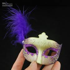 Decorative Masquerade Masks New Mini Feather Mask Venetian Masquerade Party Decoration 15