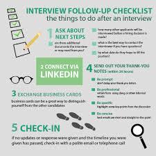 Infographic Post Interview Checklist Jobsearch Philippines