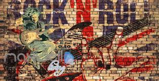 grunge poster of rock and roll brick wall art wall murals wallpaper decals prints decor idcwp on rock n roll wall art with grunge poster of rock and roll brick wall art wall murals wallpaper