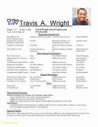 Acting Resume Template Word Linkinpost Com