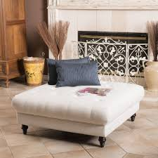 square white upholstered tufted ottoman coffee table for rustic modern living room furniture with brown ceramic floor tiles ideas