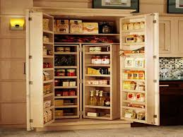 Marvelous Best Tall Kitchen Pantry Cabinet Furniture With Wood Color Images