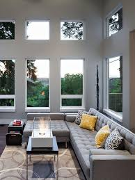gray living room furniture. Living Room Modern Gray Room. Choose A Powerful Backdrop For Low-profile Sectional Furniture
