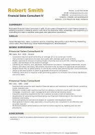 Direct Sales Resumes Financial Sales Consultant Resume Samples Qwikresume