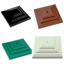 linic plastic fence post caps for 100mm 4 square wooden fence posts 1 of 3free see more