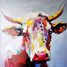 Big-Size-<b>Paintings</b>-<b>Handmade</b>-<b>Wall</b>-<b>Painting</b>-Color-Cow-Picture-on ...