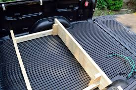 pickup truck bed cargo divider made of wood
