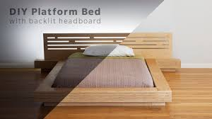 platform bed with nightstand. DIY Modern Plywood Platform Bed Part 1 : Frame \u0026 Nightstand Build - Woodworking With