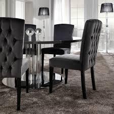 designer italian on upholstered velvet dining chair italian modern designer chrome round dining table