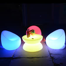 light up patio furniture illuminated pe