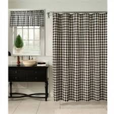 cream and black shower curtain. classic check midnight black and cream fabric shower curtain n