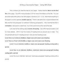 Apa 6 Sample Paper Apa Format Template Essay Example 2300