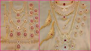 1 gm gold bridal jewellery sets with 1 gram gold jewellery with