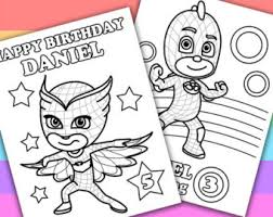 Small Picture 2 Personalized Coloring Pages PJ Masks Animation by PetiteMonkey