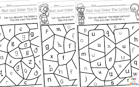 As students color the free abc printable, they will love revealing pretty fall pictures. Color By Letter Fun With Mama