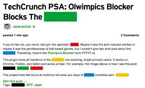 Psa Example Techcrunch Psa Olwimpics Blocker Blocks The Olympics
