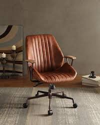 industrial style office chair. Exellent Style Add An Edgy Industrial Style To Your Home Office With The Hamilton Leather Office  Chair This Swivel And Adjustable Chair Has A Top Grain Leather Upholstery  On Industrial Style Chair T