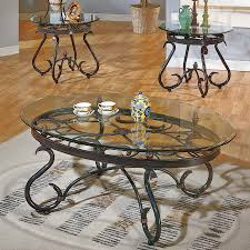 steve silver company lola glass accent table set