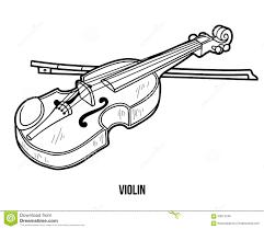 Livre De Coloriage Instruments De Musique Violon Illustration