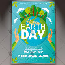 Happy Earth Day Spring Flyer Psd Template