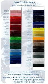 Robison Anton Color Chart Robison Polyester Floss Thread