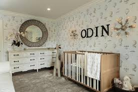 Gray Nursery with Nursery Works Novella Crib