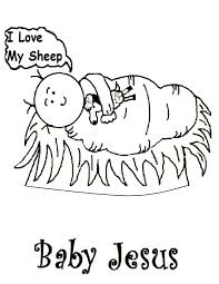 Jesus Coloring Pages 240 Baby In A Manger With Page - glum.me