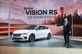 2018 paris motor show pictures from Škoda auto at the exhibition