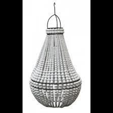 beaded chandelier shade white