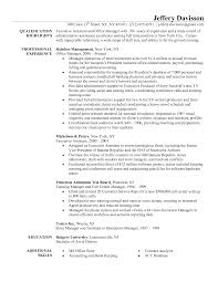 Resume Example Interim Office Manager Front Desk Administrator