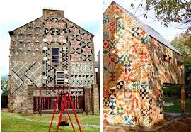 Quilt Inspiration: Barn Quilts - Art Gallery Fabrics - The ... & Sometimes a barn quilt is simply a cool pattern that the artist chose like  the modern barn designs pictured above. Adamdwight.com