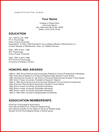 Awesome Academic Cv Examples | Wing Scuisine
