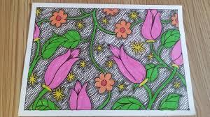 Contoh gambar batik tanpa warna job seeker. Contoh Gambar Batik Model Bunga Mudah Youtube
