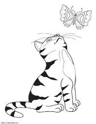 Coloring page outline of funny cats catching goldfish. Super Cute Cat Coloring Pages Easy No Prep Kids Activity The Artisan Life