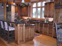 rustic knotty alder kitchen cabinets cabinet and island ideas