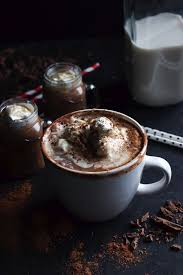cup of hot chocolate with whipped cream. Delighful Hot Boozy Hot Chocolate With Vanilla Bean Whipped Cream 9 For Cup Of With C