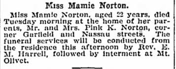 Obituary for Mamie Norton (Aged 22) - Newspapers.com