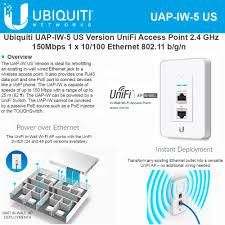 ubiquiti networks unifi in wall wireless access point 2 4ghz uap iw ubiquiti networks unifi in wall wireless access point 2 4ghz uap iw 5 us 802 11n poe