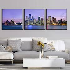 wall art paintings sydney 3 pcs set the night sydney landscape canvas painting wall art on wall art sydney with elegant wall art paintings sydney wall decorations