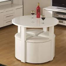 space saving. Image Is Loading Space-Saving-Dining-Table-Small-Breakfast-Room-White- Space Saving