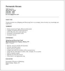 Shipping Resume Templates Best of Shipping Clerk Resume Shipping Nice Receiving Clerk Resume Sample