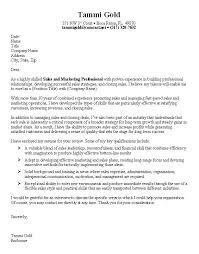 Standard Resume Cover Letter