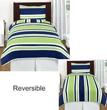 navy and lime green bedding navy blue lime green white stripes twin boy bedding comforter set