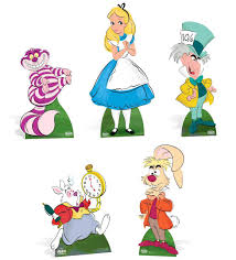 Complete Alice In Wonderland Disney Lifesize Cardboard Cutout Collection