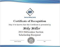 Certificate Of Recognition Template Free Download 7 Scholarship Certificate Templates Word Psd Illustrator In
